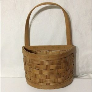 🦋New Listing🦋Woven Wooden Half Basket